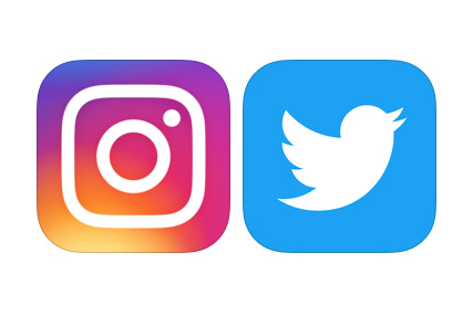 Instagram and Twitter account growth package